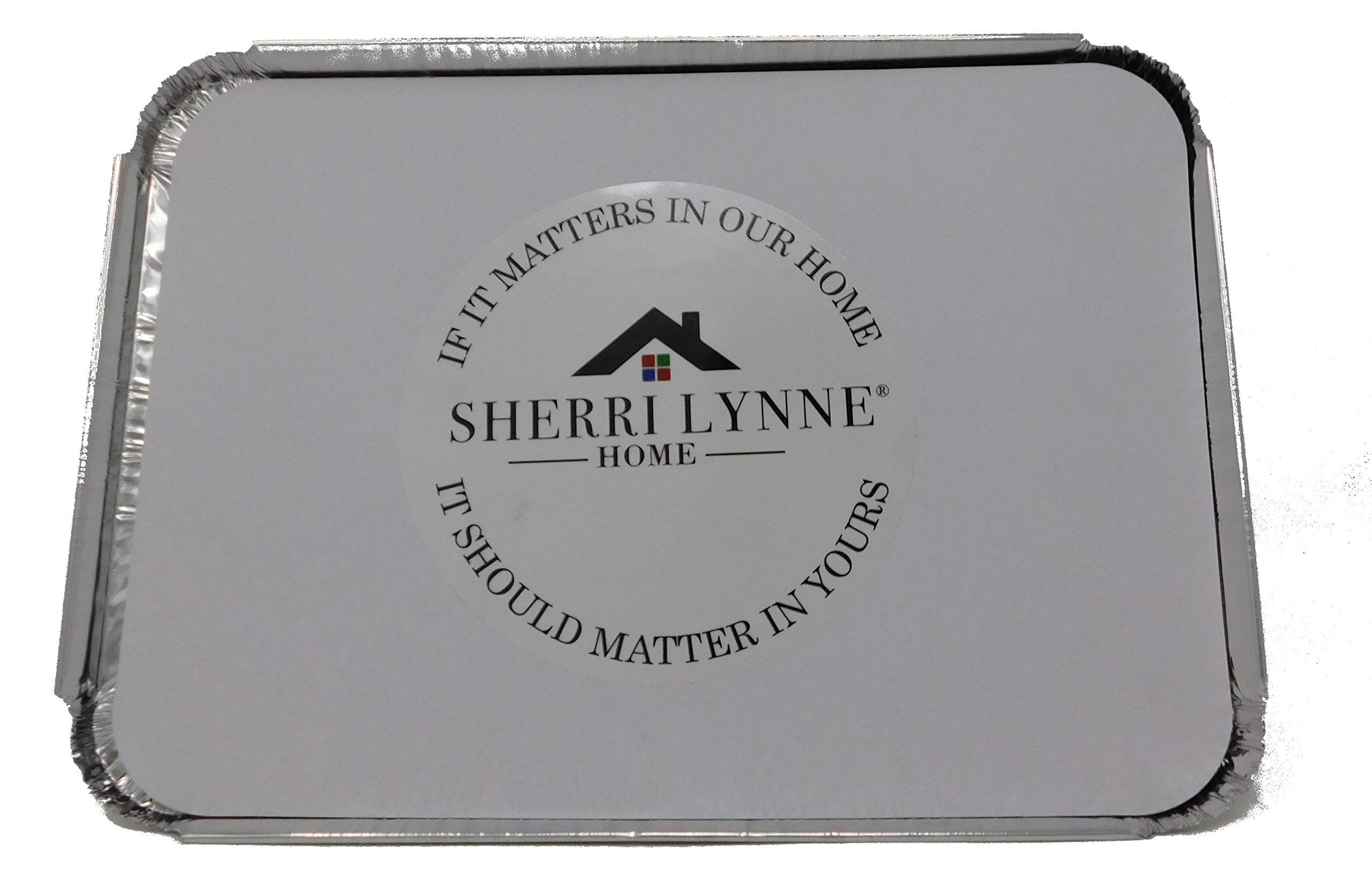 Sherri Lynne Home Aluminum Oblong Foil Pan Containers and Board Lids Set, 2.25 lb Capacity, 9inch x 6inch, 50 Pack WITH LIDS