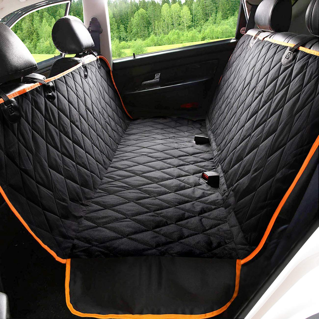 Kytely Upgraded Dog Car Seat Cover Waterproof Pet Seat Cover for Back Seat, Scratch Proof & Nonslip Backing & Hammock, 600D Heavy Duty Dog Seat Cover for Cars, Trucks and Suvs by Kytely