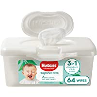 HUGGIES Baby Wipes Fragrance Free Baby Wipes Pop-Up Tubs, 64 Wipes, 64 count