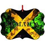 Amazon.com: Jamaican Flag-Jamaica-Flat Round-Shaped Aluminum ...