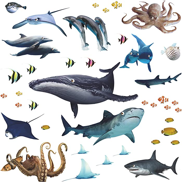 The Best Ocean And Fish 3D Wall Decor