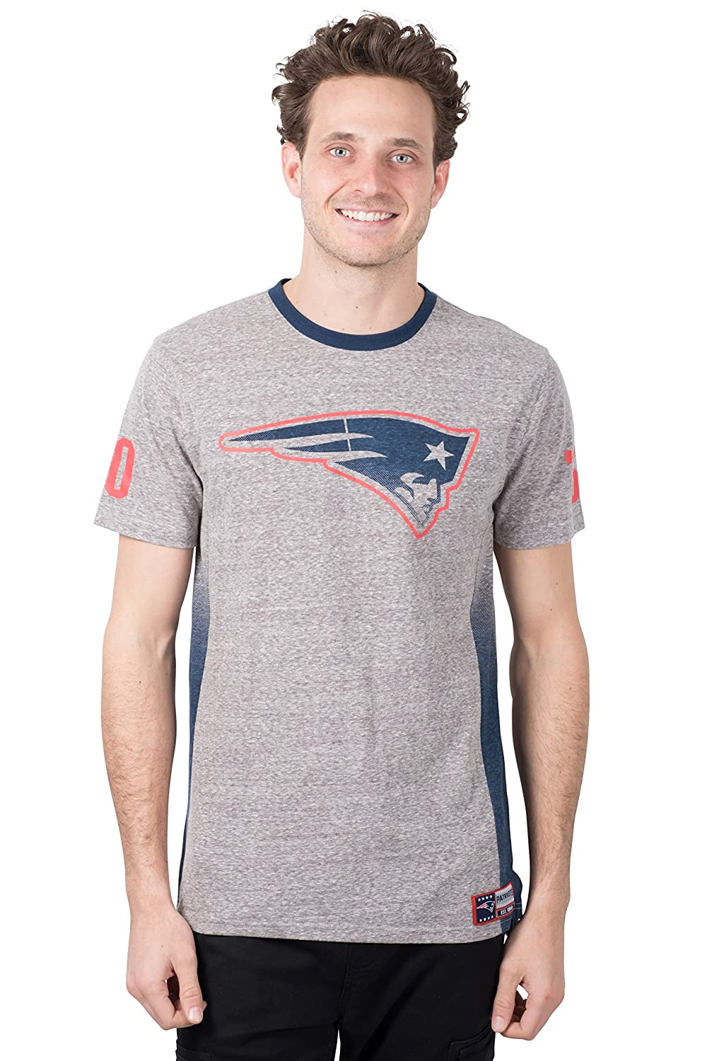 Small NFL New England Patriots Ultra Game Mens S//S SNOW JERY CREW TEE Gray