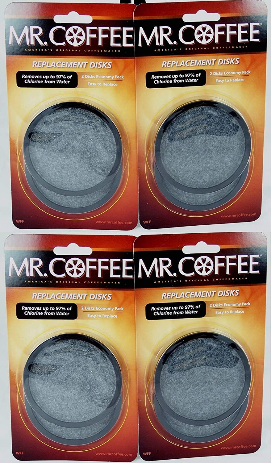 Mr. Coffee WFF Water Filter Replacement Disc Universal 4/Pack