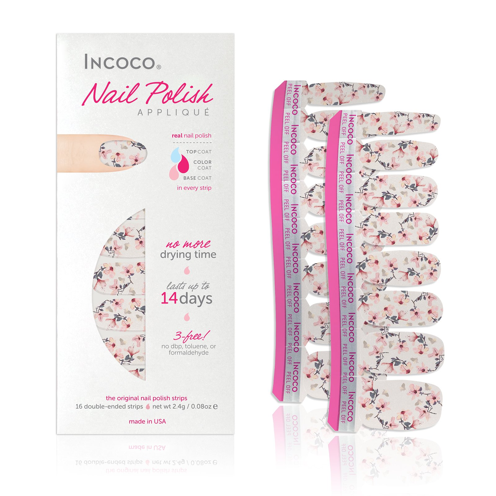 Incoco Nail Polish Strips, High Tea Florals Collection, New Leaf