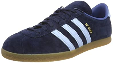 the best attitude f2587 16d5d adidas Mens Berlin Trainers, (Dark MarineClear SkyTrace Blue),