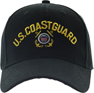 Army Universe Black US Coast Guard USCG Logo Baseball Cap Hat with Official  Pin 2dbe4ce9ea8