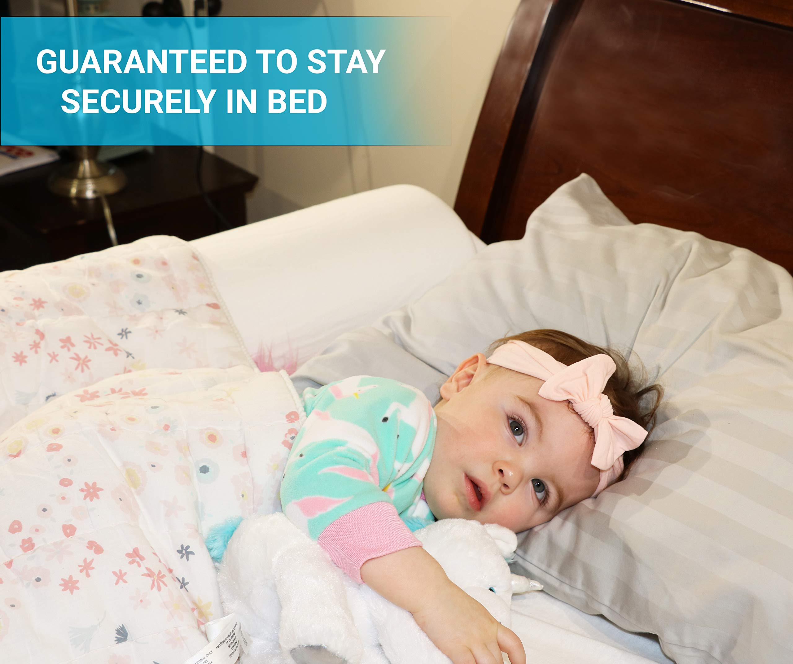 Toddler Bed Rail Bumper Foam Bed Edge for Toddlers - Premium Kids Bed Bumper - Bed Edge Safety Guard - Bunk Rail for Kids - Baby Bumper - Comfortable & Durable - Waterproof & Washable Cover Included