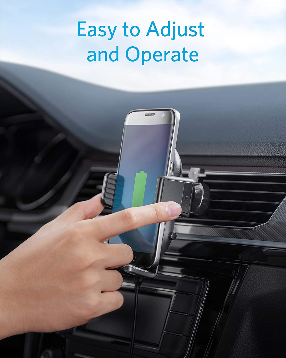 10W for Galaxy S10 S9 S8 Qi-Certified Note 10 Roav W1 Fast Wireless Car Charger with Air Vent Phone Holder 7.5W for iPhone Xs Max XR XS X 8//8 Plus Quick Charge Car Charger Included