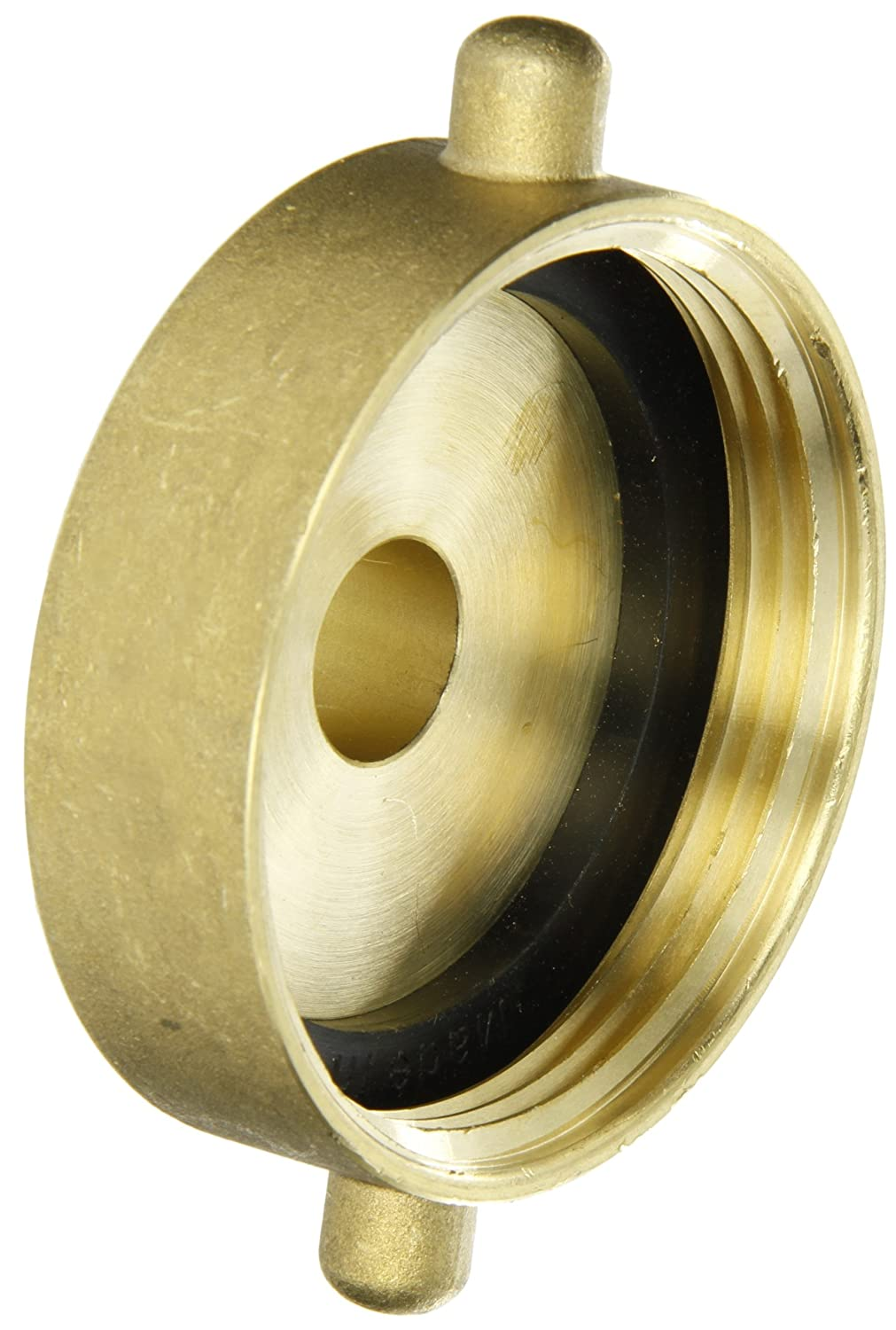 Dixon Valve HA2575T Brass Fire Equipment, Hydrant Adapter with Pin Lug, 2-1/2' NST (NH) Female x 3/4' NPT Male 2-1/2 NST (NH) Female x 3/4 NPT Male Dixon Valve & Coupling