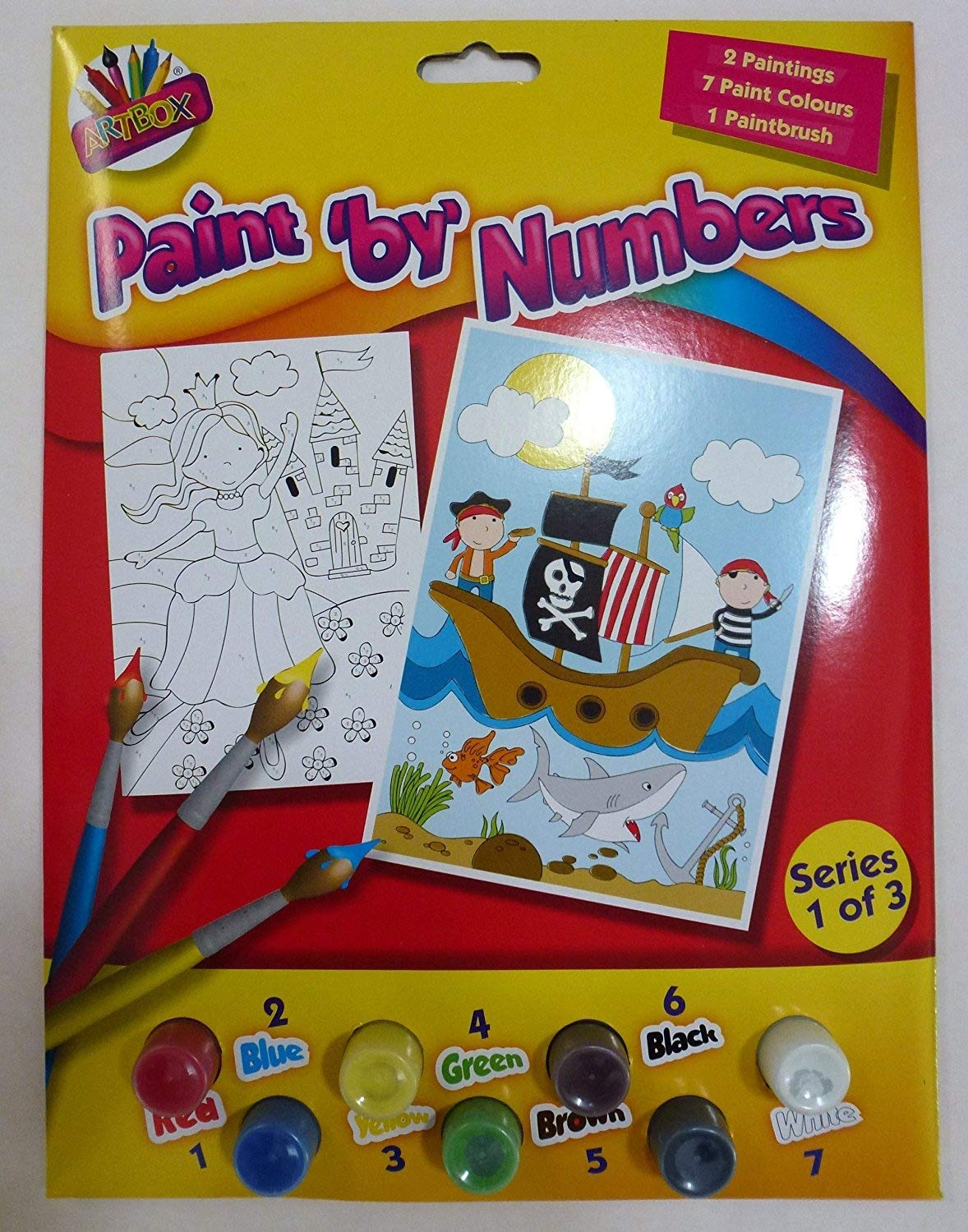 New Tallon International Paint By Numbers Painting Craft Activity Kids