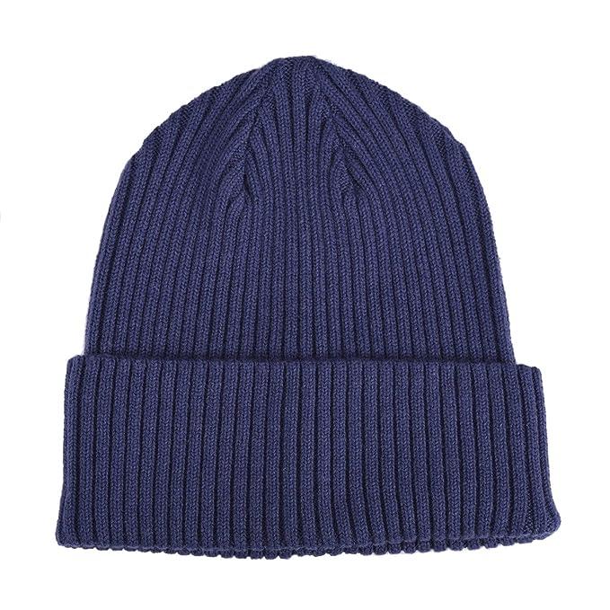 7ab37f54c Merino Wool Cuff Beanie Hat Ribbed Knit for Men Women Cap Plain Cuff Beanie  Watch Cap