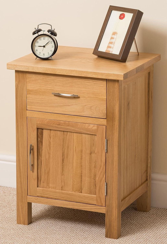 bedroom side tables. Boston Solid Oak 1 Drawer Door Bedroom Bedside Table Cabinet Unit  48 5 x 40 66 cm Amazon co uk Kitchen Home