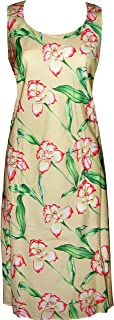 product image for Paradise Found Womens Orchid Panel Short Tank Dress Yellow S