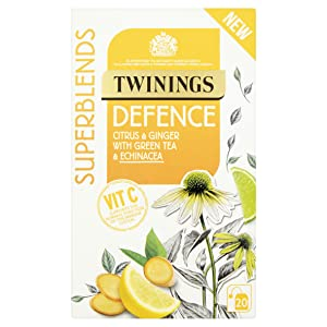 Twinings Superblends Defence Citrus and Ginger with Green Tea and Echinacea Tea Bags, 40 g