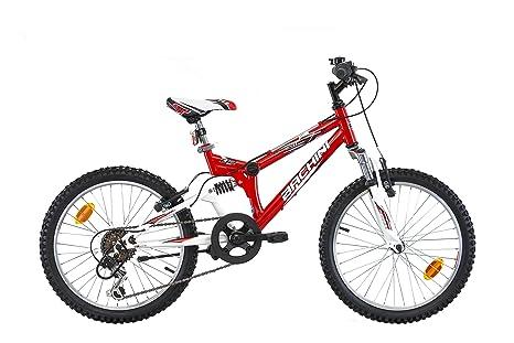 Bachini - Bicicleta de montaña (cuadro con suspensión total, ruedas de 20