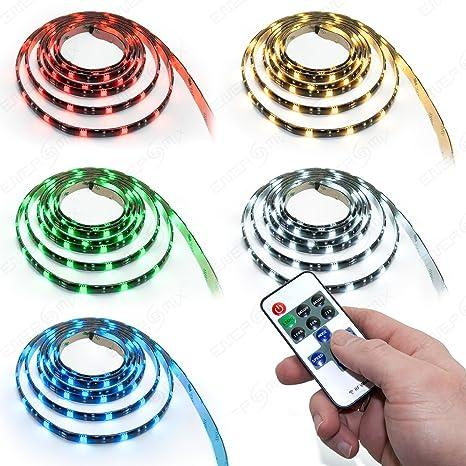 Ruban à Led Rgb Smd 5050 Avec 210 Led Adaptateur Secteur Télécommande étanche Ip65 Multicolore 7 M