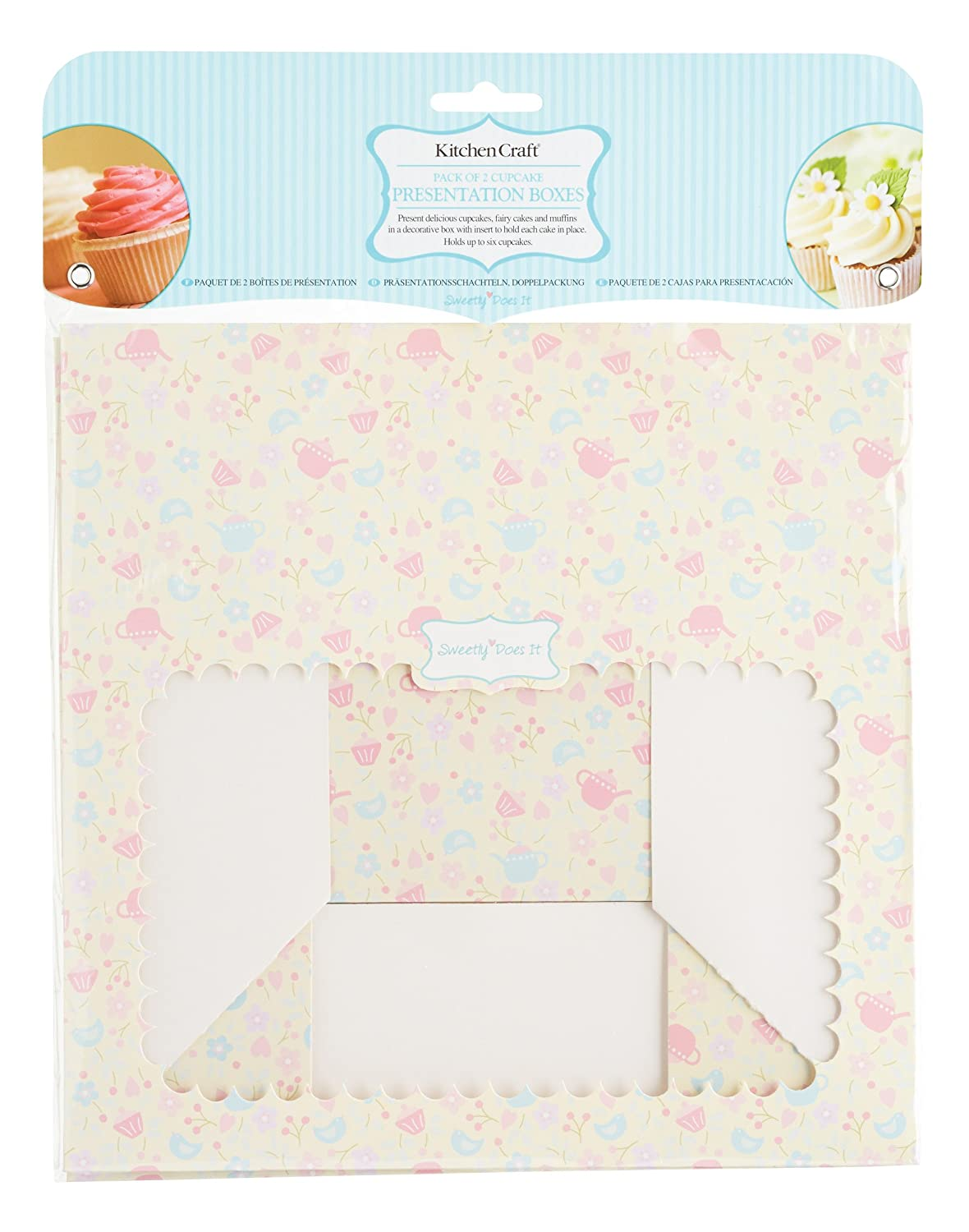 Amazon.com: Pack Of 2 Sweetly Does It Cupcake Boxes For 6 Cupcakes: Kitchen & Dining