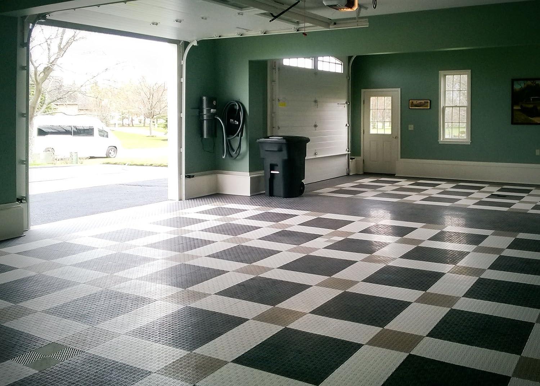 48 Pack Royal Blue GarageTrac Diamond Durable Interlocking Modular Garage Flooring Tile