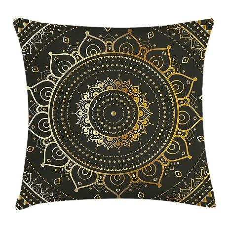 Nacasu Mandala Throw Pillow Cushion Cover Tribal Figure ...