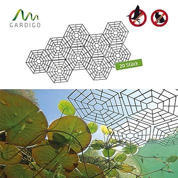 Gardigo 6008420 - Red/Malla Protectora para Estanque; Protección contra Pájaros Aves Carpinteros Pichones Gorriones Gatos; 20 Piezas con clips: Amazon.es: ...