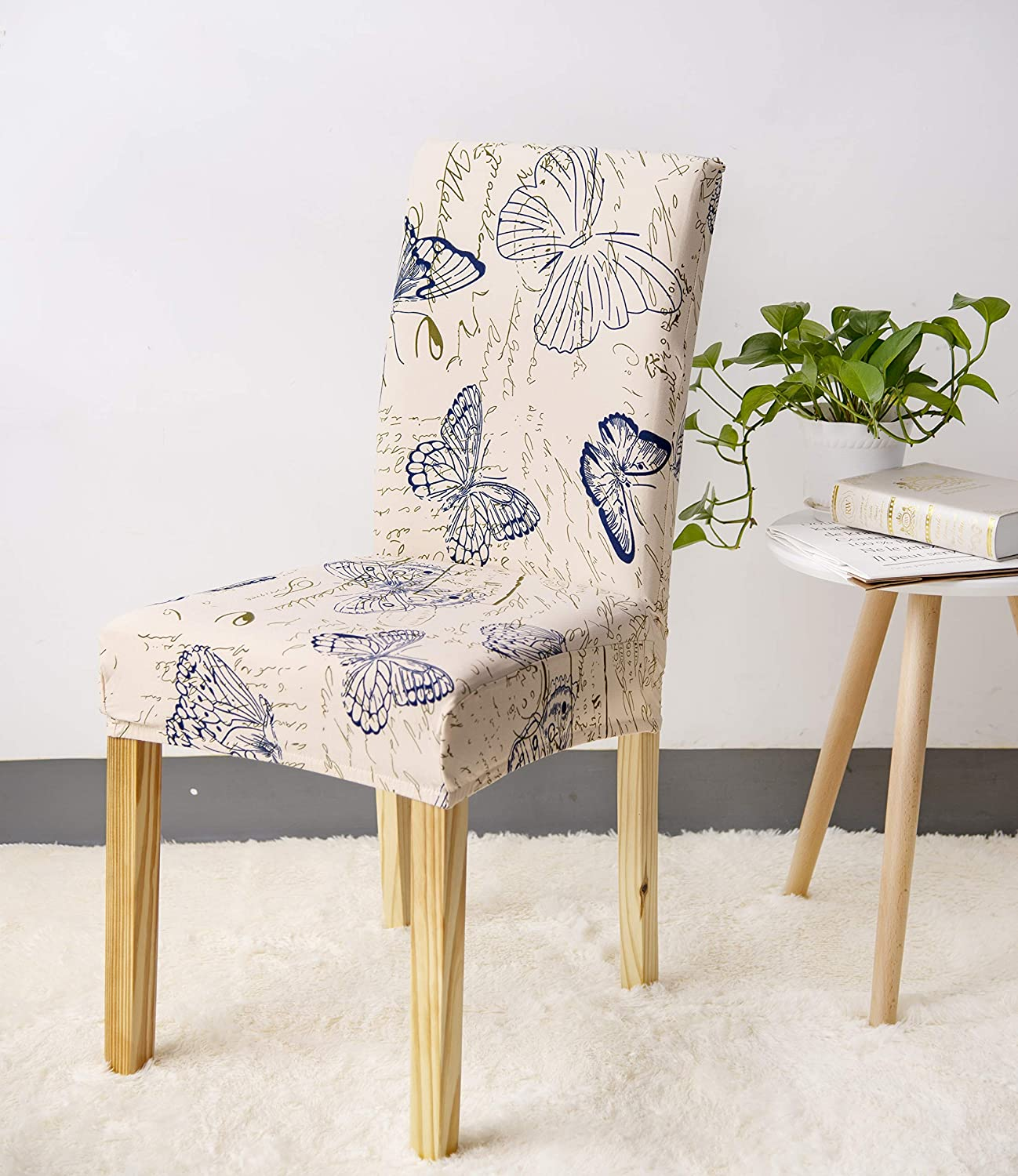FORCHEER Spandex Chair Seat Slipcovers Washable Removable Stretch Dining Room Chair Seat Covers Upholstered High Elastic for Kitchen