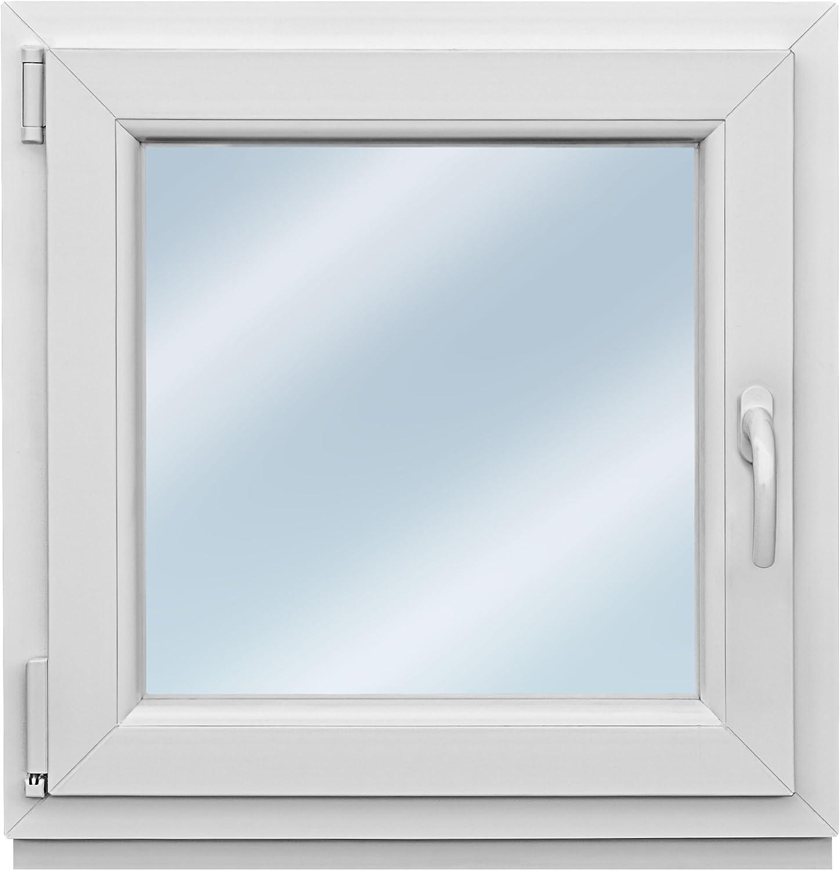 Premium wei/ß Kunststofffenster 3 fach Fenster Fl/ügel BxH 486x586 mm