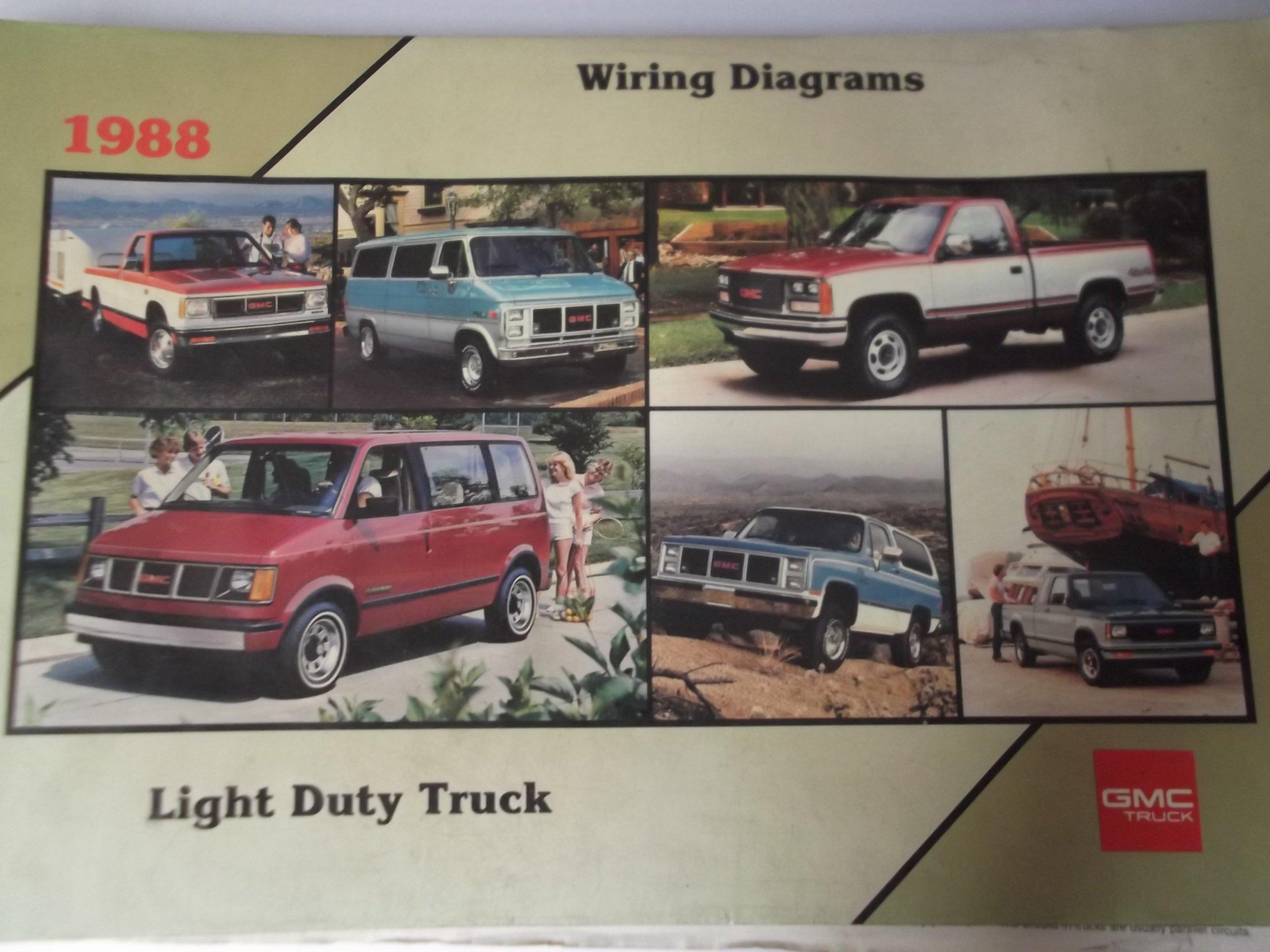 [ANLQ_8698]  GMC Light Duty Truck Wiring Diagrams: 1988: GMC TRUCK DIVISION: Amazon.com:  Books | 1988 Gmc Wiring Diagram |  | Amazon.com