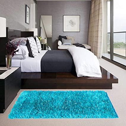 Glamkaart Light Blue Floor Rug 2x5 Feet
