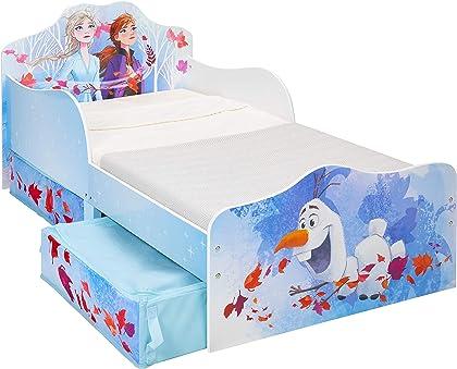 Cama de Frozen Olaf Disney Infantil con Espacio de Almacenamiento de Tela