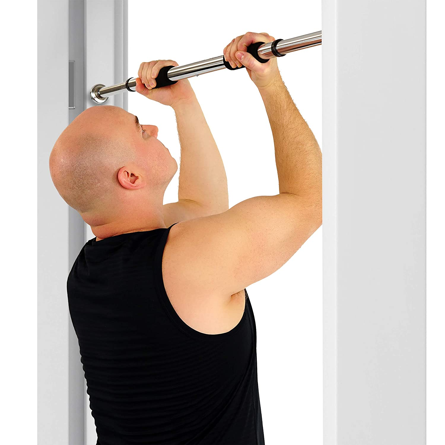 419504aedfd Amazon.com   Sunny Health   Fitness Door Way Chin Up and Pull Up Bar   Pull  Up Bars   Sports   Outdoors