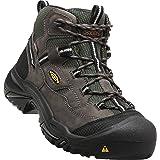 KEEN Utility Men's Braddock Mid Steel Toe Waterproof Work Boot (Color: Gargoyle/Forest Night, Tamaño: 9.5)