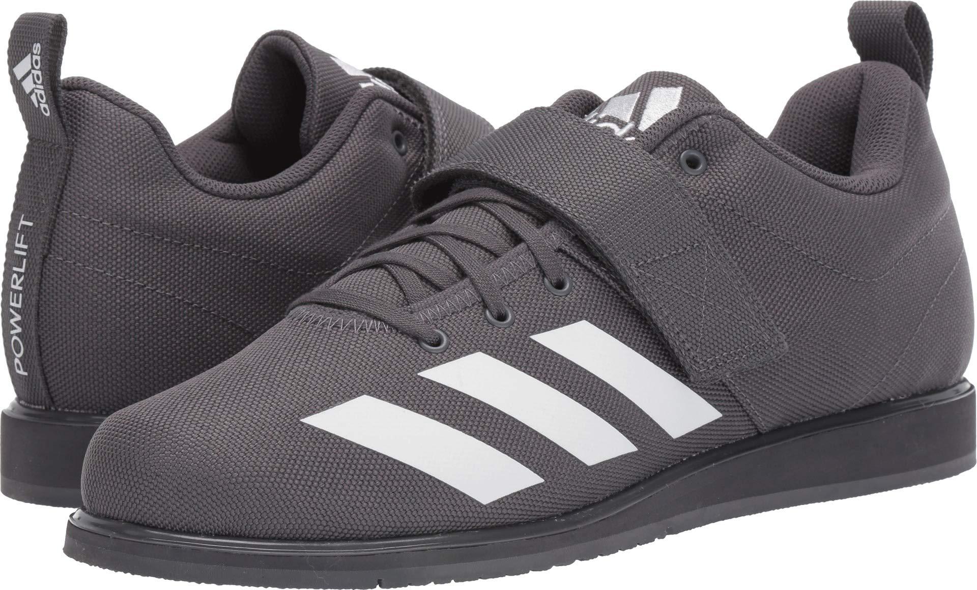 adidas Men's Powerlift 4, White/Grey, 4 M US