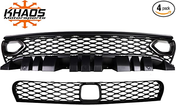2015-2019 Dodge Charger Nostril Upper /& Lower Grille Kit Adaptive Cruise