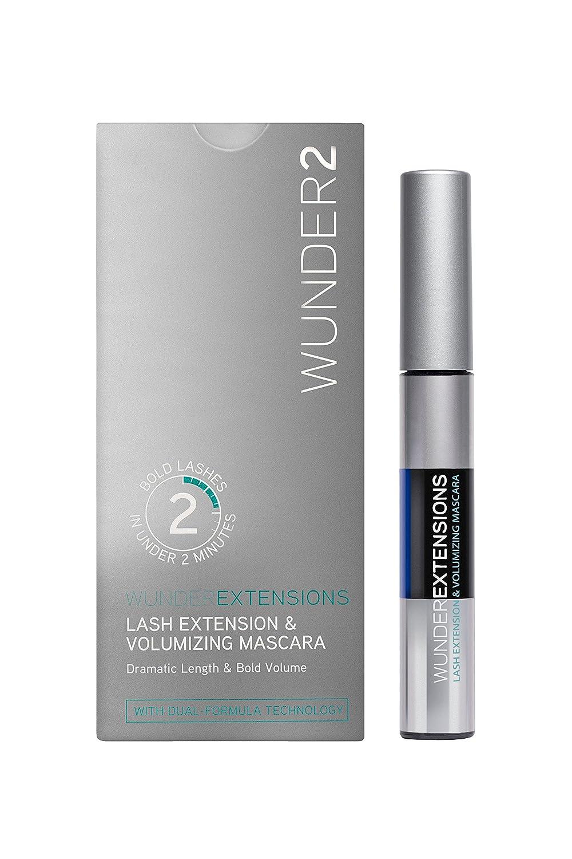 WUNDER2 WUNDEREXTENSIONS Lash Extension & Volumizing Mascara Black, False Eyelashes Effect
