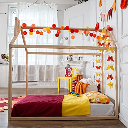 Lit Maison Lit Cabane Lit Montessori Amazon Fr Cuisine Maison