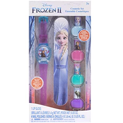Townley Girl Disney Frozen 2 4 Pack Nail and Lip Gloss Watch Set, 6 CT: Beauty