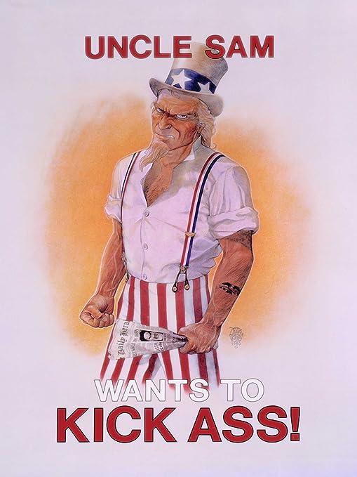 Amazon Com Advert Satire Uncle Sam Kicks Ass Iran Hostage Crisis