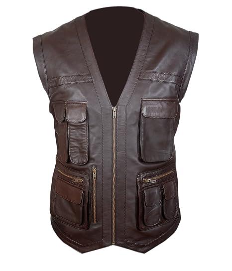 f6fef8f2e Flesh & Hide F&H Kid's Jurassic World Chris Pratt Owen Grady Genuine  Leather Vest: Amazon.co.uk: Clothing