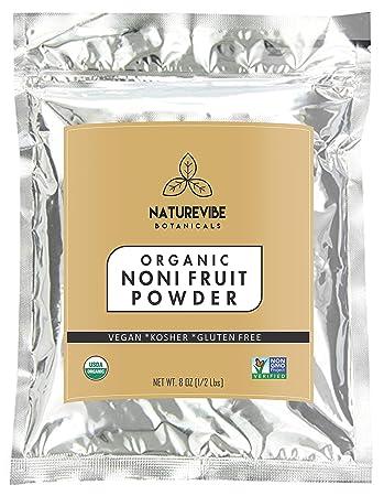 Amazoncom Naturevibe Botanicals Usda Organic Noni Fruit Powder 2