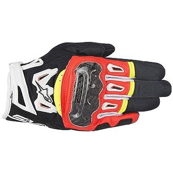 f29babc947 Amazon.com: Alpinestars SMX-2 AC V2 Carbon Air Black/Red/Yellow/White XL  Summer Glove: Automotive