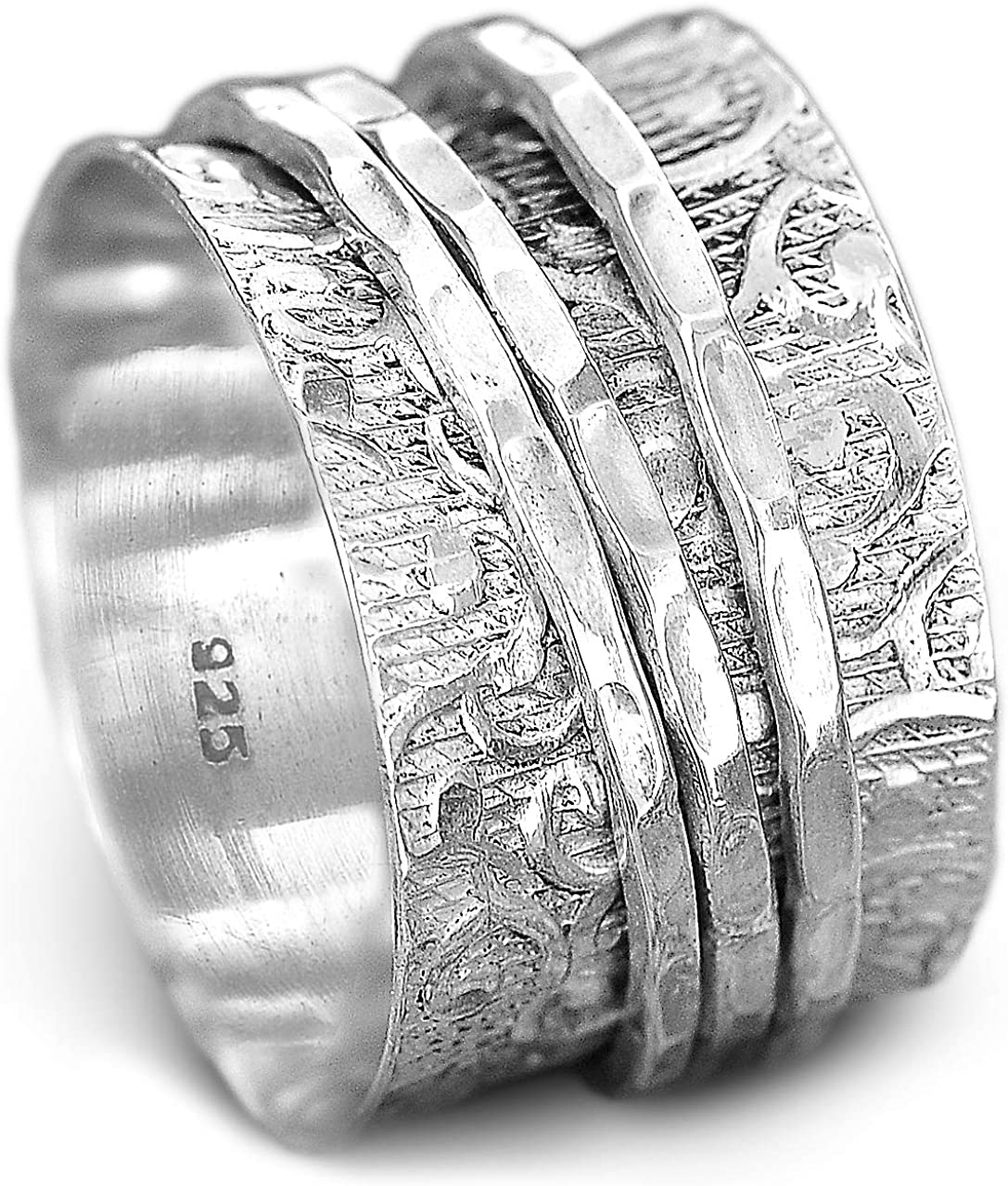 anxiety ring silver Thumb ring Silver spinner ring Sterling silver ring meditation ring 925 silver ring Promise ring