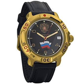 Vostok KOMANDIRSKIE 2414 819453 Militar ruso reloj mecánico: Amazon.es: Relojes
