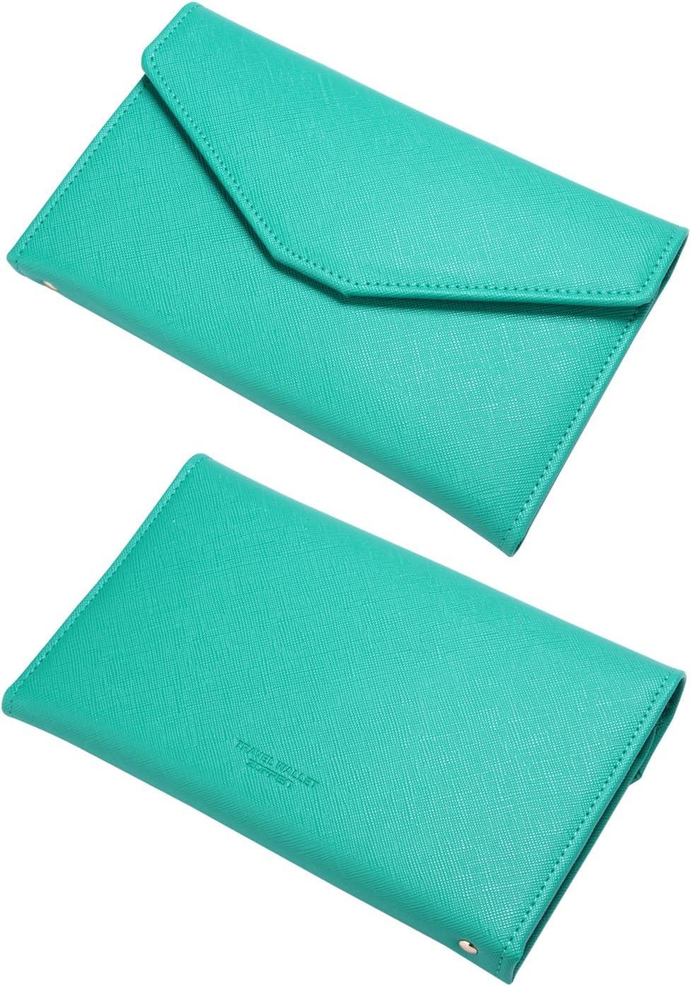 Zoppen Multi-purpose Rfid Blocking Travel Passport Wallet For Women Tri-fold Document Organizer Holder Ver.4