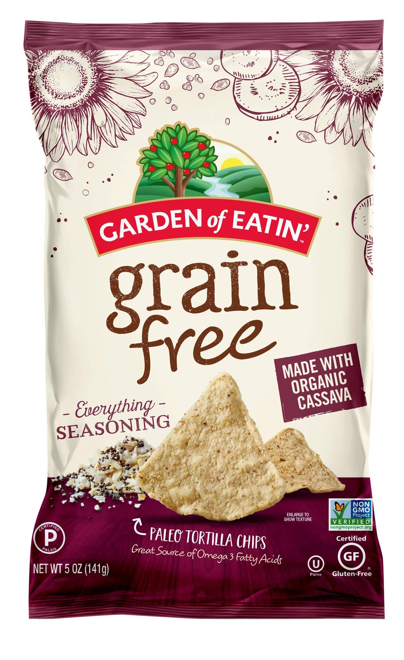 Garden of Eatin' Garden of Eatin' Grain Free Paleo Everything Sesasoning Tortilla Chips, 5 oz Bag (Pack of 12) by Garden of Eatin'