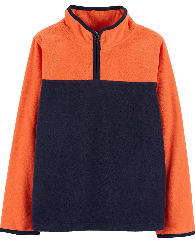 OshKosh Little Boys Fleece Cozie 4//5 Kids Orange//Navy