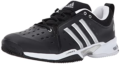 half off 50a3e 75df9 adidas Barricade Classic Wide 4E Tennis Shoe,black silver metallic white,4