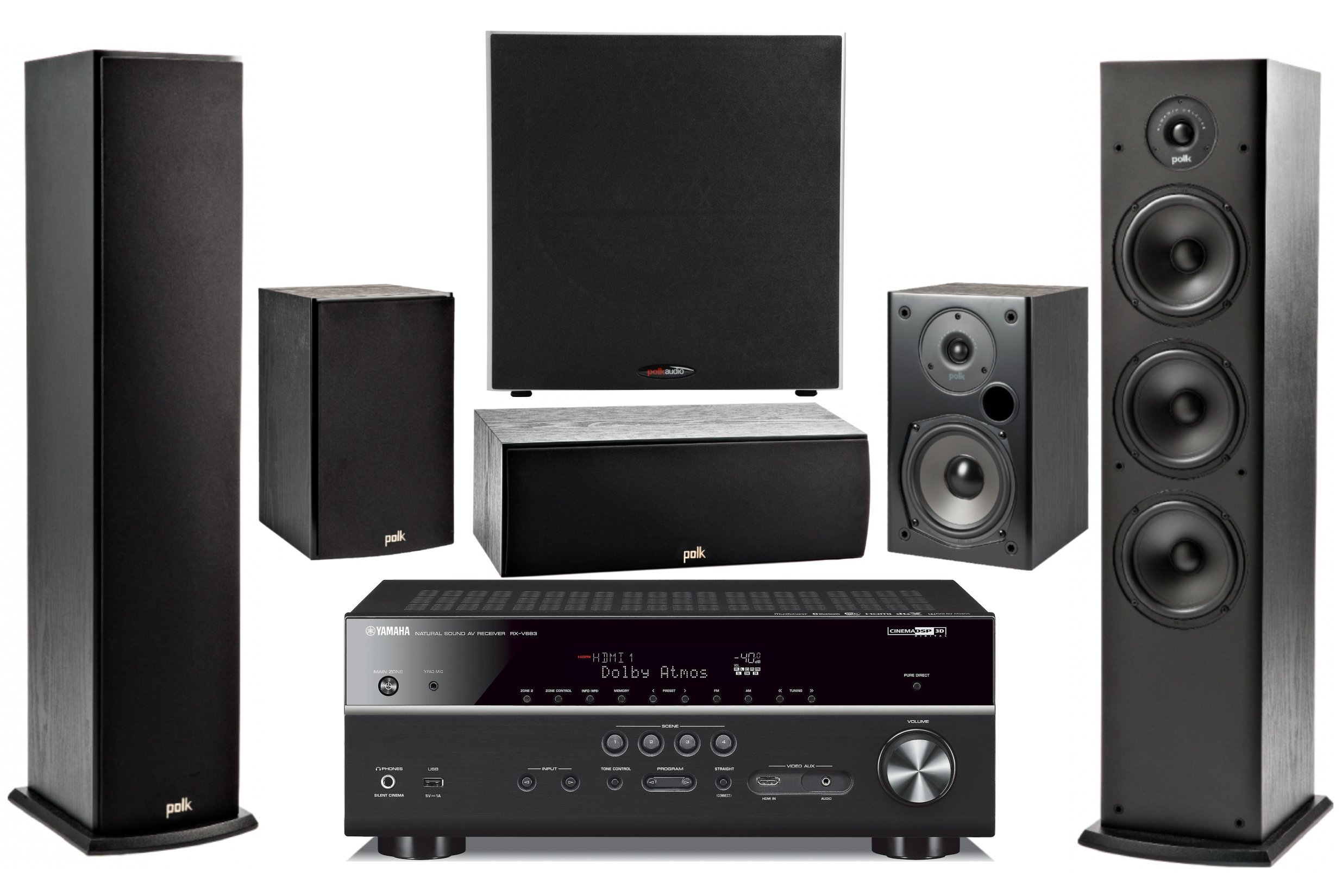Yamaha 7.2-Channel Wireless Bluetooth 4K 3D A/V Surround Sound Multimedia Home Theater System by Yamaha
