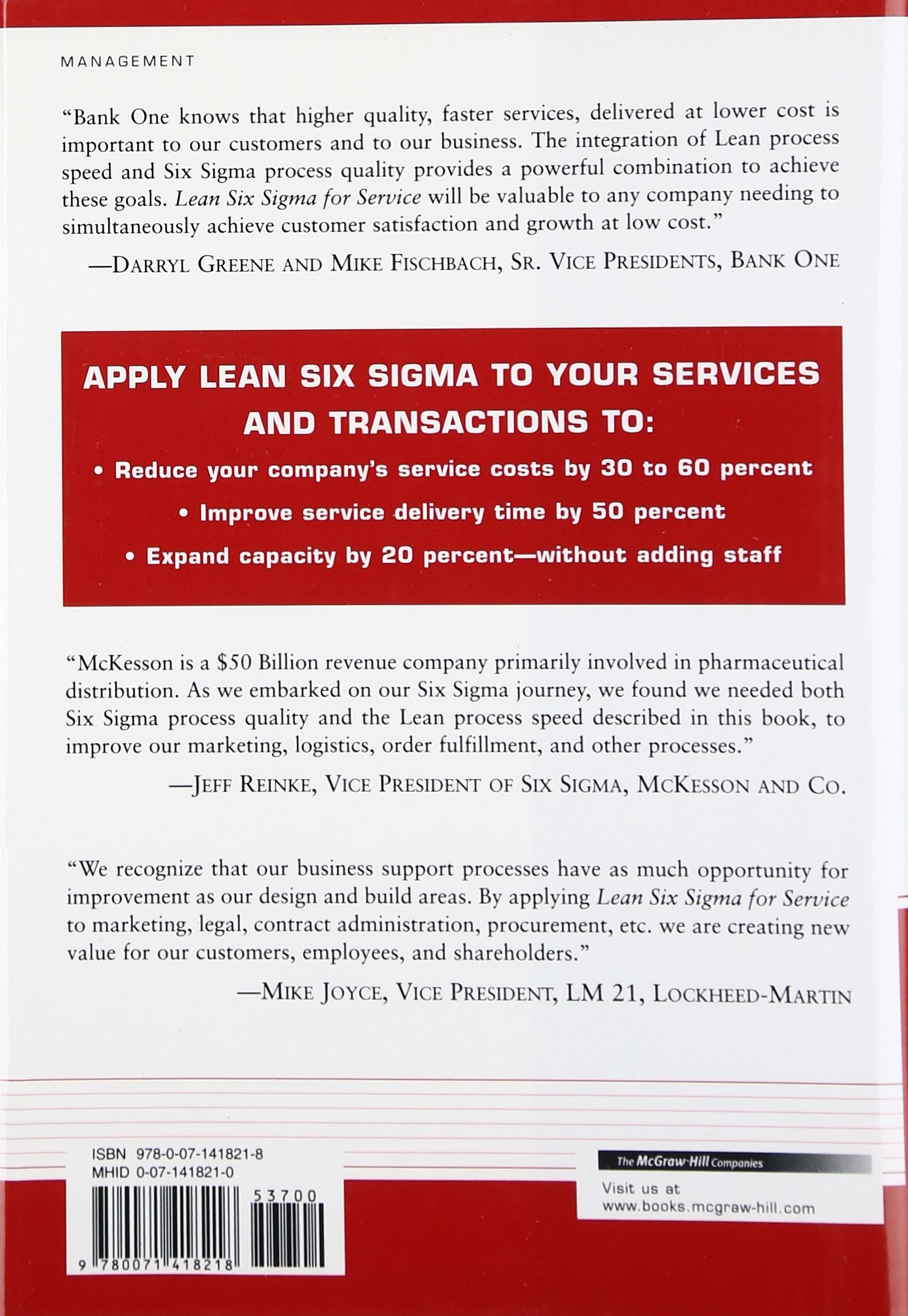 Buy Lean Six Sigma For Service Book Online At Low Prices In India