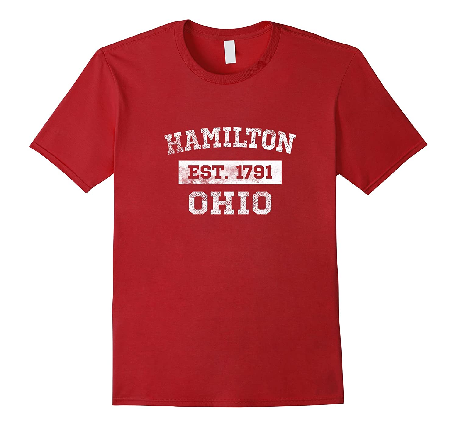 Hamilton Ohio T Shirt Est. 1791 Distressed-T-Shirt