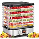 Homdox Food Dehydrator Machine with Digital Timer and Temperature Control, 8 Trays Dehydrators for Food and Jerky, Meat, Frui